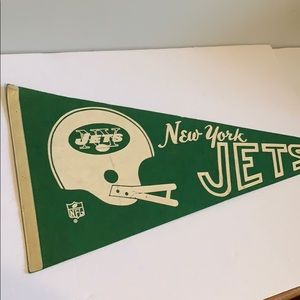 NFL New York Jets sports green pennant